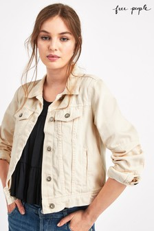 Free People Ecru Denim Jacket