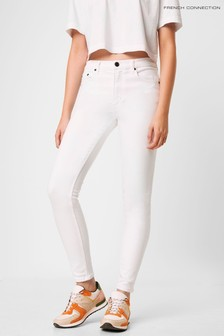 """French Connection White R Rebound 30"""" Skinny Jeans"""