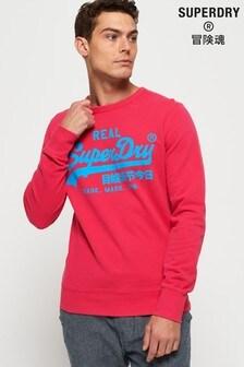 Superdry Vintage Logo Neon Lite Crew Sweatshirt