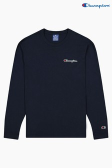 Champion Blue Crew Neck Long Sleeve T-Shirt