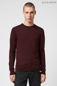 AllSaints Red Mode Merino Crew Jumper