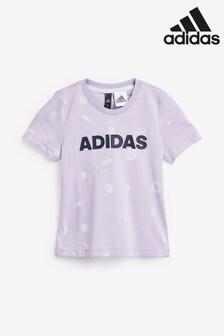 adidas Little Kids Purple Print T-Shirt
