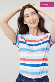 Joules Blue Carley Classic Crew T-Shirt