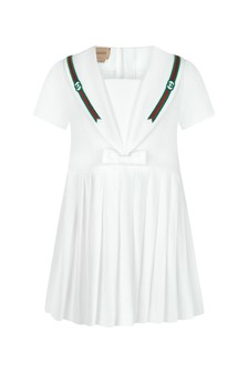 GUCCI Kids Baby Girls White Cotton Dress