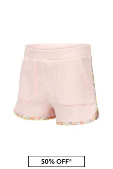 Bonpoint Girls Pink Cotton Shorts