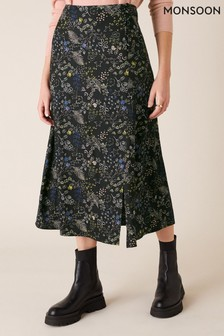 Monsoon Printed Midi Skirt