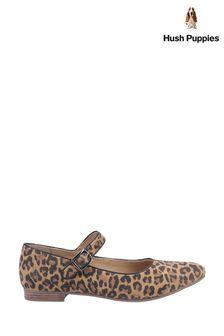 Hush Puppies Leopard Melissa Strap Shoes