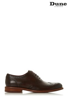 Dune Mens Brown Coloured Sole Heavy Brogues