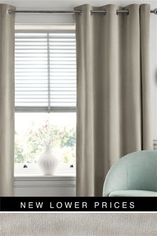 Soft Velour Eyelet Lined Curtains