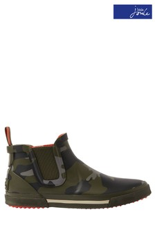 Joules Green Rainwell Boys Rubber Boots