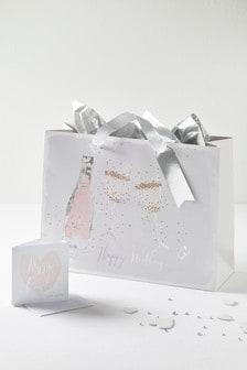 Happy Wedding Gift Bag Card Tissue Set