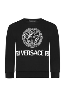 Boys Black Cotton Sweatshirt