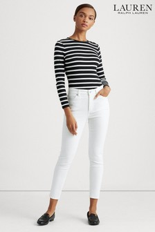 Lauren Ralph Lauren® White Skinny Fit Stretch Jeans