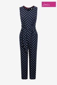 Joules Blue Eloise Tie Front Jumpsuit