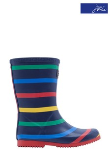 Joules Blue Roll Up Packable Wellies