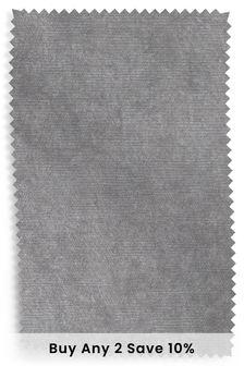Antique Velvet Light Grey Fabric By The Roll