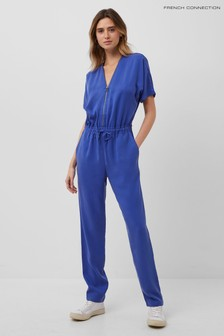 French Connection Blue Airietta Lyocell Jumpsuit