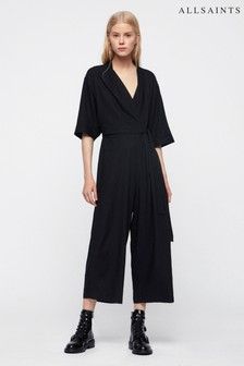 AllSaints Black Laurel Jumpsuit