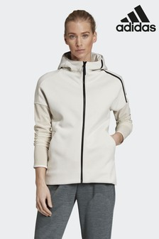 adidas White Z.N.E. Fast-Release Mesh Hoody