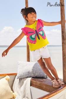 Boden Yellow Flutter Appliqué T-Shirt