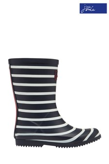 Joules Blue Junior Boys Roll Up Wellies