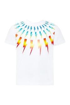 Neil Barrett Boys White Cotton T-Shirt