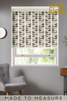 Multi Stem Warm Grey Made To Measure Roller Blind by Orla Kiely