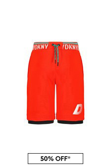 DKNY Boys Red Cotton Shorts