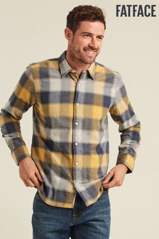 FatFace Yellow Compton Buffalo Check Shirt