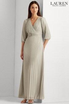 Lauren Ralph Lauren® Liquid Silver Carey Evening Maxi Dress