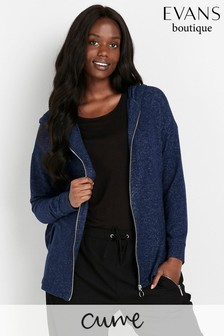 Evans Curve Blue Soft Touch Hoody