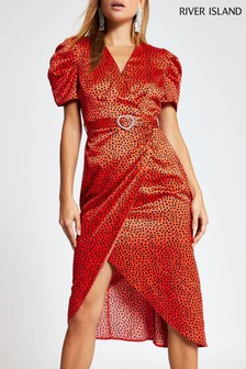 River Island Red Midi Dress