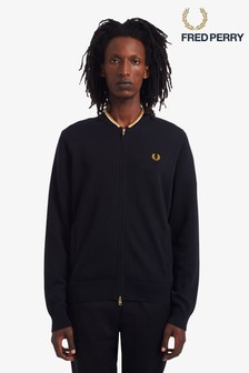 Fred Perry Black Knitted Jumper