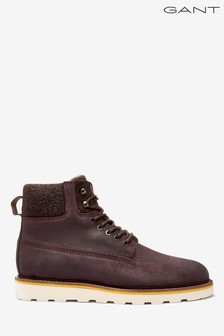 GANT Brown Don Mid Lace Boots