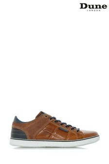 Dune Mens Tan Everyday Cupsole Sneaker