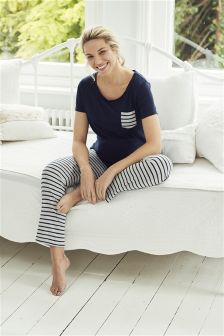 Stripe Maternity Pyjamas
