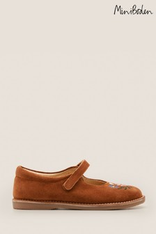 Boden Brown Novelty Mary Janes