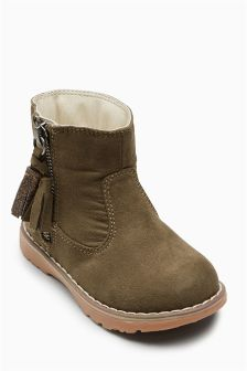 Tassel Zip Ankle Boots (Younger)