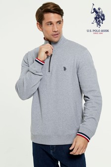U.S. Polo Assn. Signature 1/4 Zip Funnel Neck Jumper