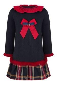 Girls Navy/Red Dress