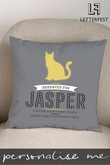 Personalised Pet Cat Cushion by Letterfest