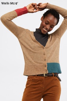 White Stuff Camel Cuddle Cardigan