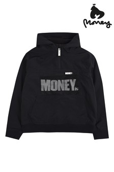 Money Mesh Detail Micro Fleece Lined Windcheater Jacket