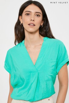 Mint Velvet Green Throw On Resort Shirt