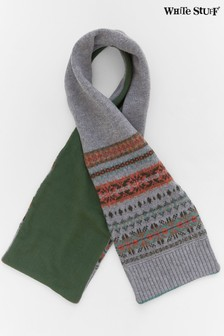 White Stuff Grey Kids Ingleton Fairisle Pattern Scarf