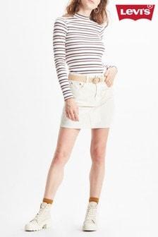 Levi's® Ecru Cord Mini Skirt