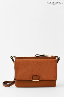 Accessorize Tan Cassie Cross-Body Bag