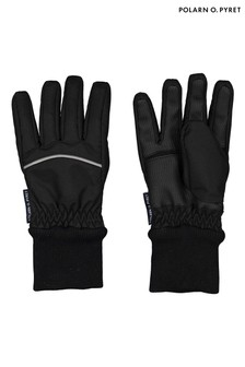 Polarn O. Pyret Black Waterproof Winter Gloves