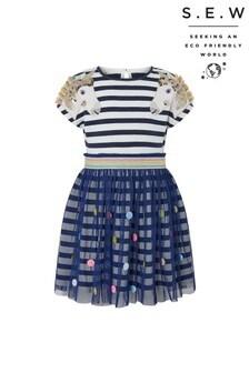 Monsoon Blue S.E.W Unicorn Novelty 2-In-1 Dress