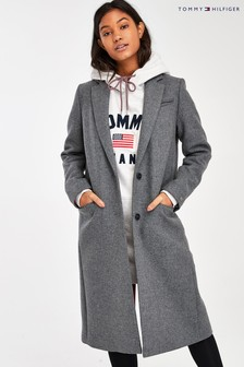 Tommy Hilfiger Grey Essential Classic Long Coat